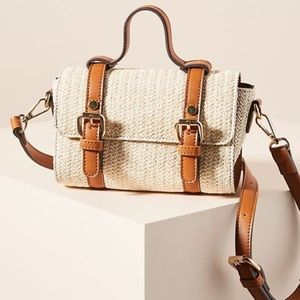 By Anthropologie Aidy Woven Crossbody Mini Bag